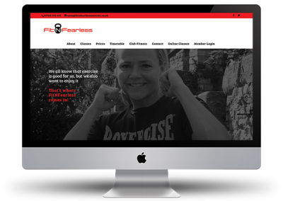 Fitnfearless website