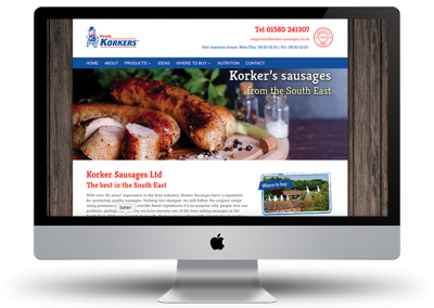 Korkers Sausages website