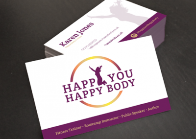 Happy You Happy Body business cards