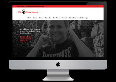 Fitnfearless website