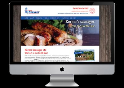 Korkers Sausages website