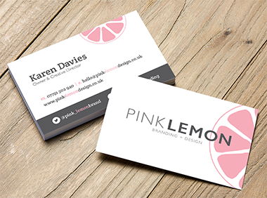 Pink Lemon business card