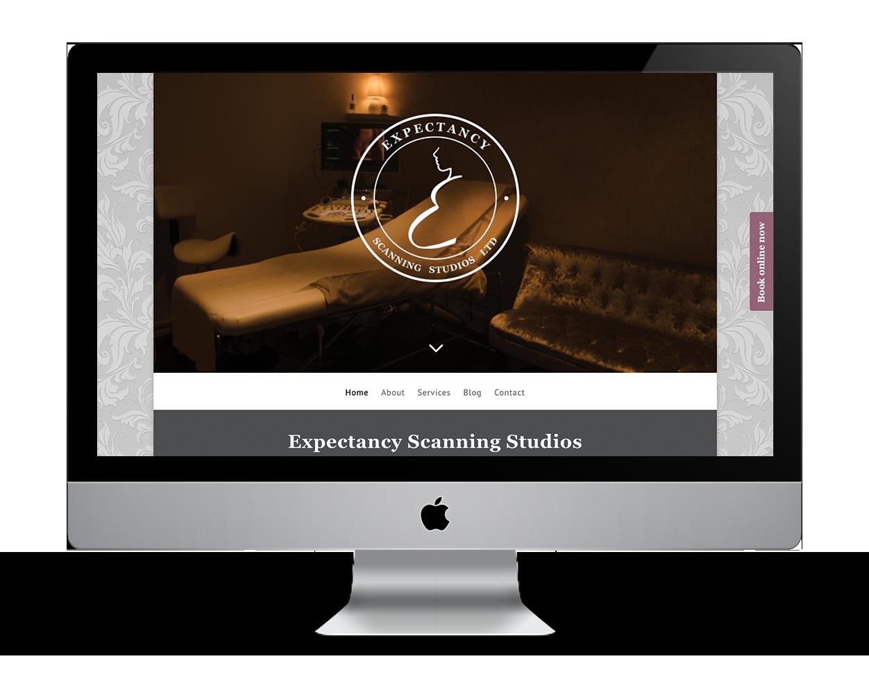 Expectancy Scanning Studios website