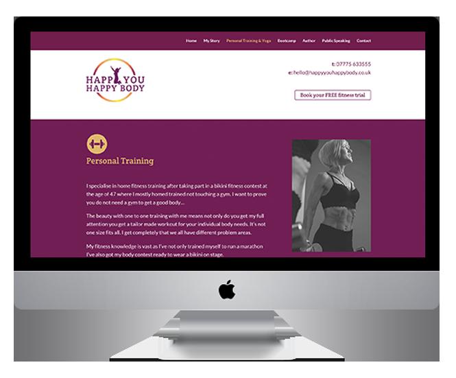 Happy You Happy Body website design