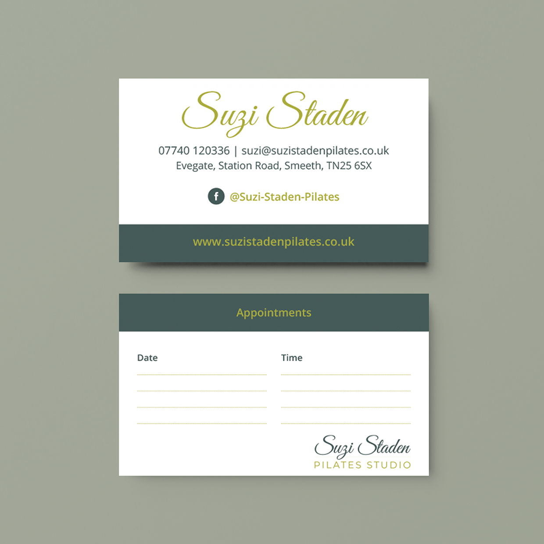 Suzi Staden Pilates Business Card Design