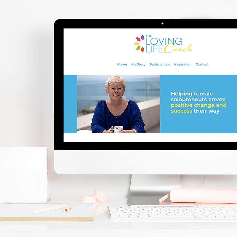 The Loving Life Coach Website square