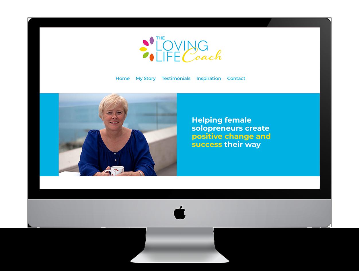 The Loving Life Coach branding board